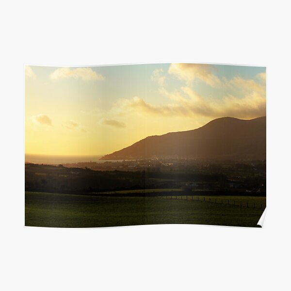 Sunrise Over Newcastle, County Down, Northern Ireland Poster