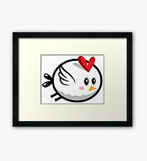 Cool Chicken Flying Framed Print