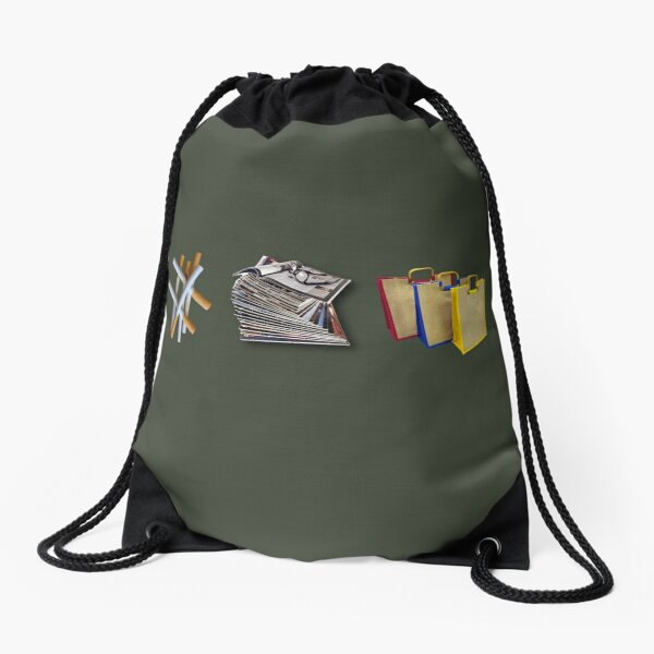 Fags, Mags & Bags  Drawstring Bag