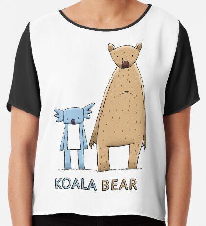 Cute Koala Bear Chiffon Top