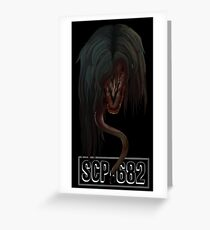"SCP-682 ""Hard To Destroy Reptile"" Greeting Card"
