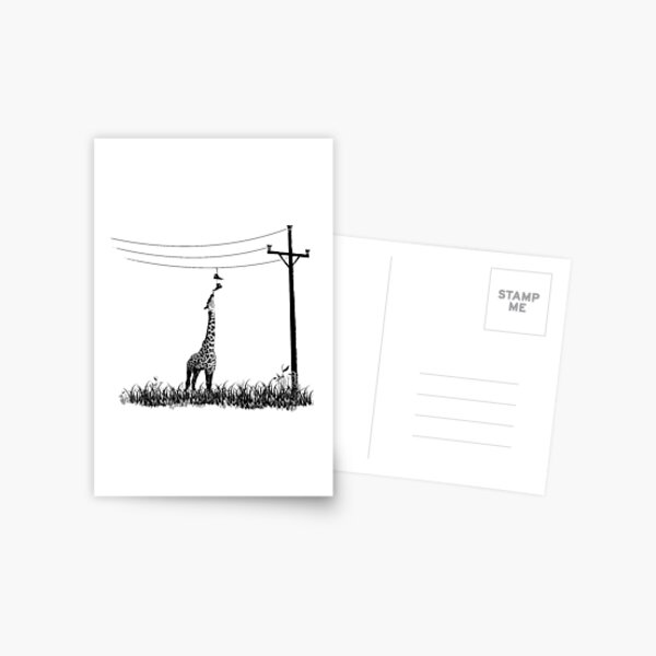Hungry Hungry Giraffe by Decibel Clothing Postcard