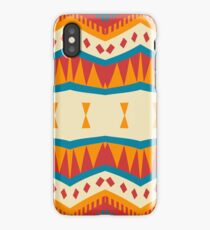 Mirrored shapes in retro colors iPhone Case