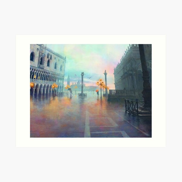 Rainy Evening in Venice Art Print