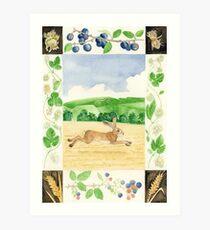 Uffington-Hase Kunstdruck
