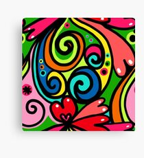 Psychedelic Love Abstract Canvas Print
