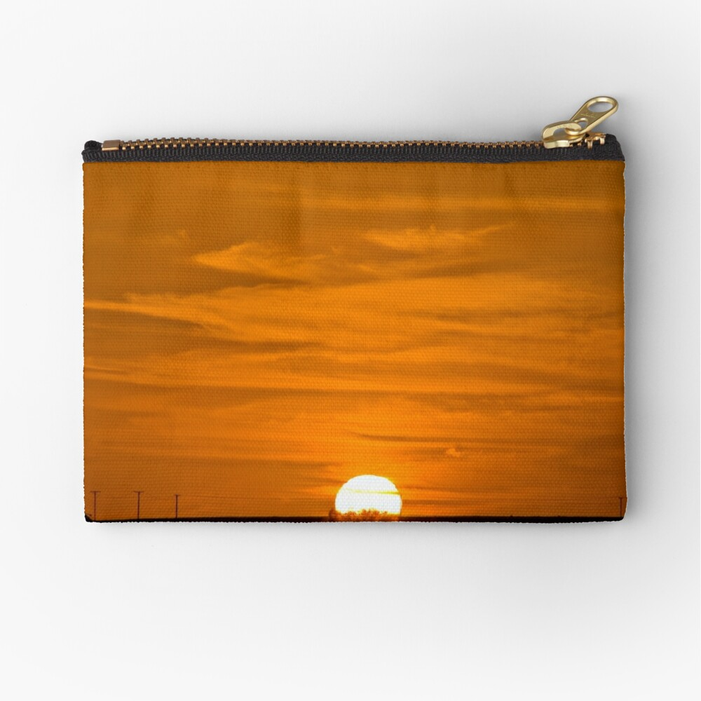Marree Sunset - South Australia Zipper Pouch