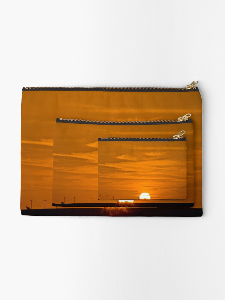 Alternate view of Marree Sunset - South Australia Zipper Pouch