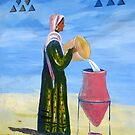 A Nubian Woman filling her Water Urn by Marilyn Harris