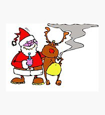 Santa Claus with reindeer Photographic Print