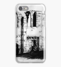 Tupholme Abbey B&W Study iPhone Case/Skin