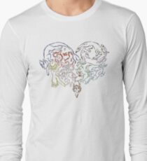 Tribal Eeveeloutions heart T-Shirt