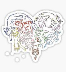 Tribal Eeveeloutions heart Sticker