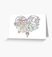 Tribal Eeveeloutions heart Greeting Card