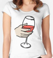 Wine Women's Fitted Scoop T-Shirt
