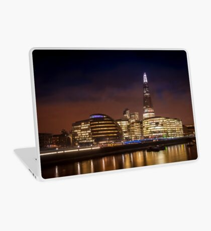 The Shard at night, London. Laptop Skin