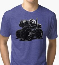 Cartoon Monster Truck Tri-blend T-Shirt