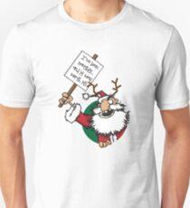 Naughty Santa Unisex T-Shirt
