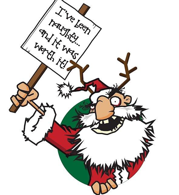 Naughty Santa by Richard Rabassa