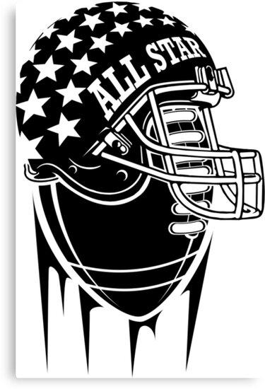 American Football Allstar Helmet by lu2k