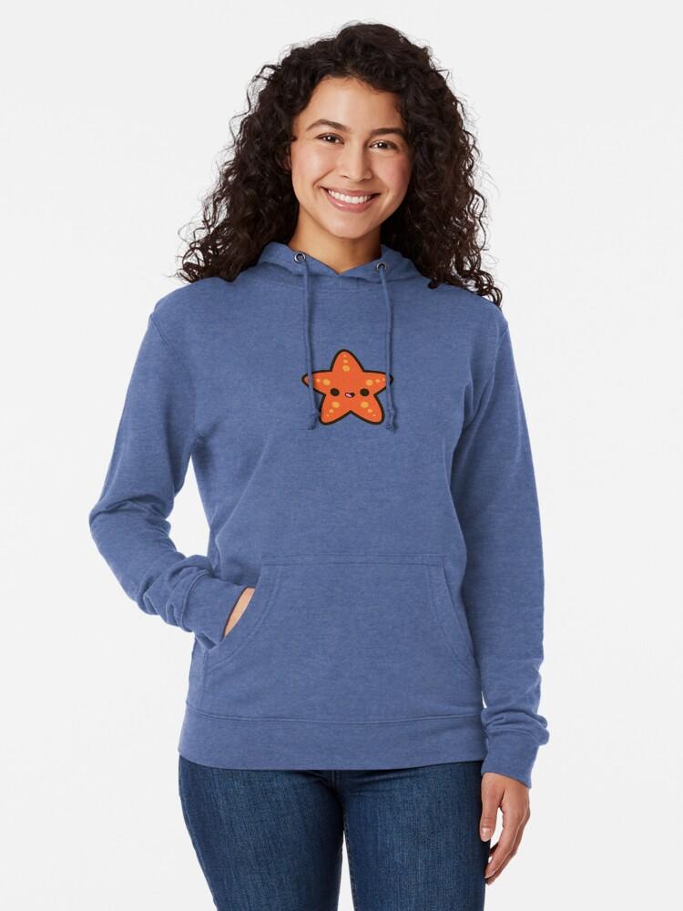 Alternate view of Cute starfish Lightweight Hoodie