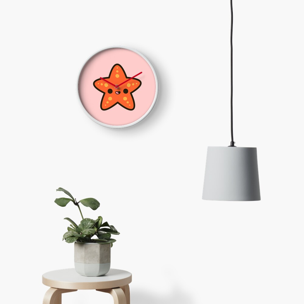 Cute starfish Clock