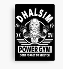 Street Fighter, Dhalsim Power Gym Canvas Print