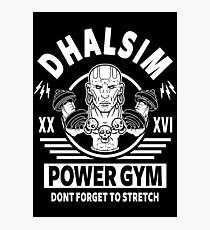 Street Fighter, Dhalsim Power Gym Photographic Print