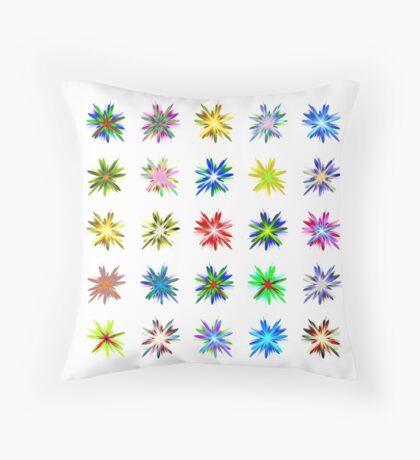 Flower blast structured chaos #fractal art Throw Pillow