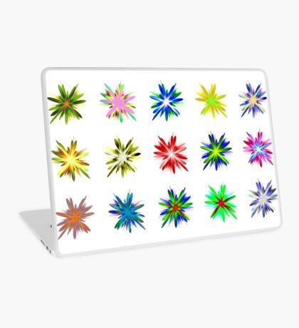 Flower blast structured chaos #fractal art Laptop Skin