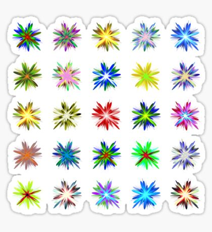 Flower blast structured chaos #fractal art Sticker