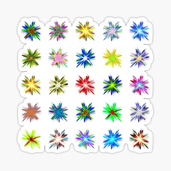 Flower blast structured chaos #fractal art Sticker