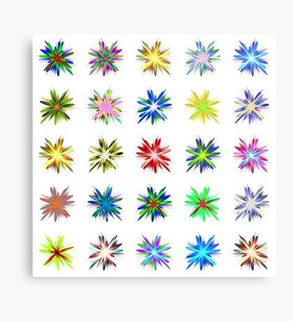 Flower blast structured chaos #fractal art Metal Print