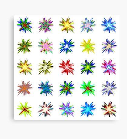 Flower blast structured chaos #fractal art Canvas Print
