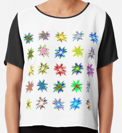 Flower blast structured chaos #fractal art Chiffon Top
