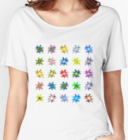 Flower blast structured chaos #fractal art Relaxed Fit T-Shirt