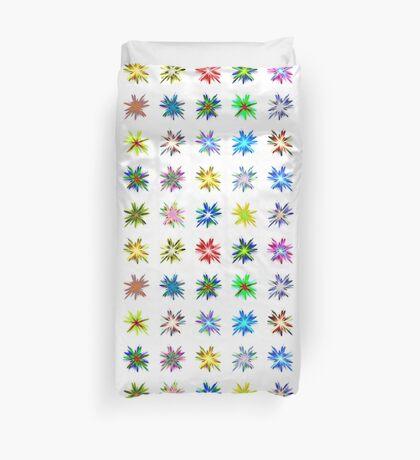 Flower blast structured chaos #fractal art Duvet Cover