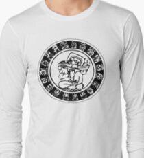 Mesoamerica - calendar bw Long Sleeve T-Shirt