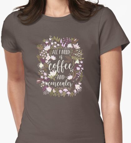 Coffee & Concealer – Spring Palette Womens Fitted T-Shirt
