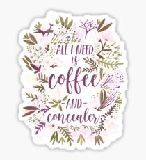 Coffee & Concealer – Spring Palette Sticker