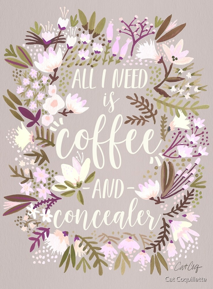 Coffee & Concealer – Spring Palette by Cat Coquillette