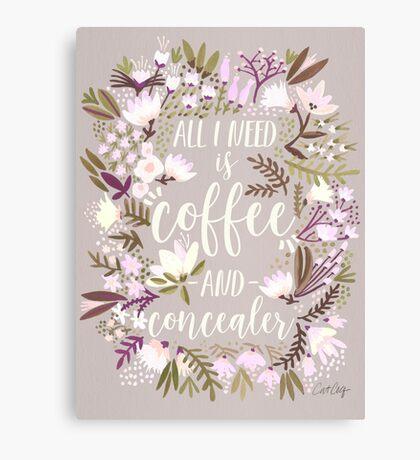 Coffee & Concealer – Spring Palette Canvas Print