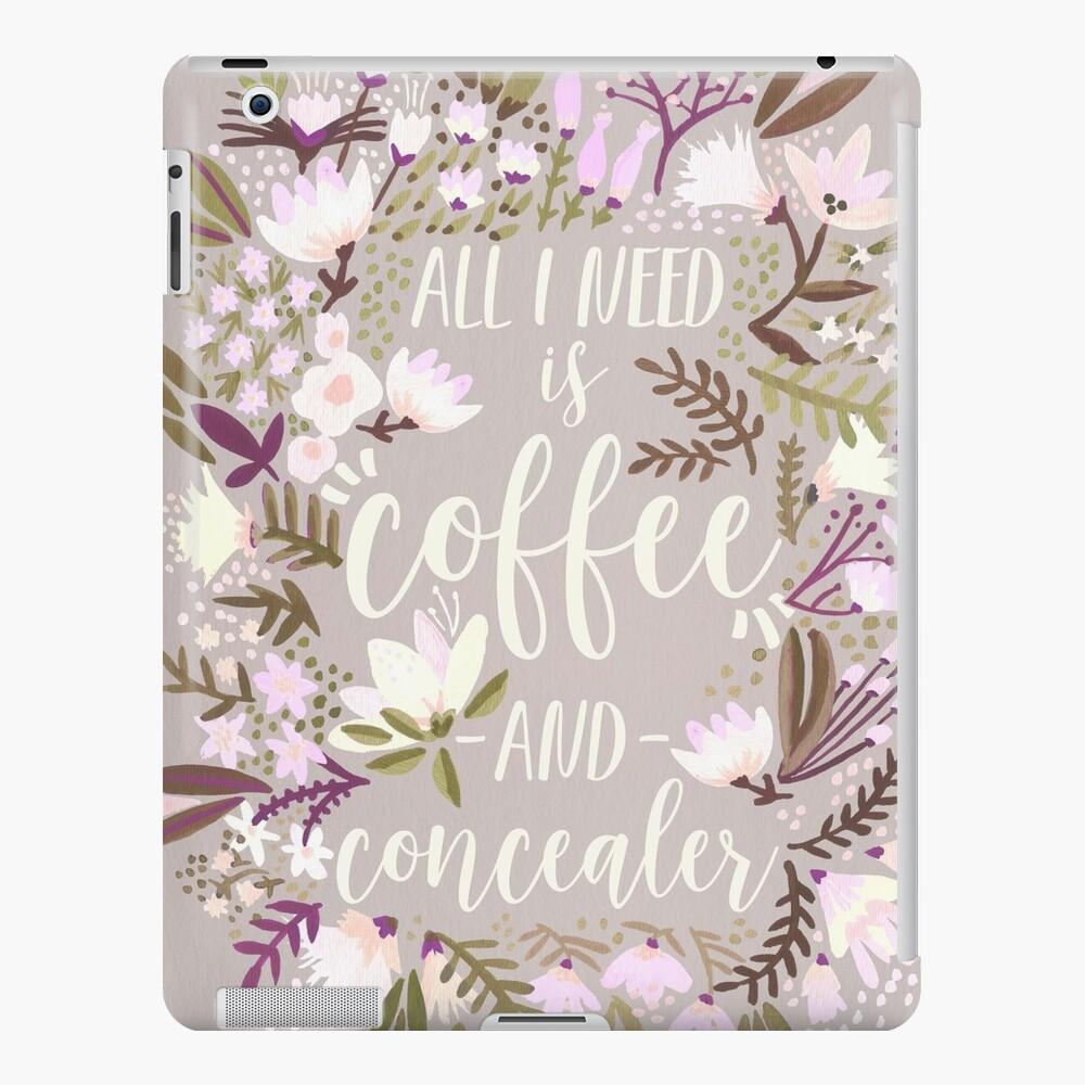 Coffee & Concealer – Spring Palette iPad Case & Skin