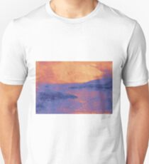 Watercolor of sunset at the sea T-Shirt