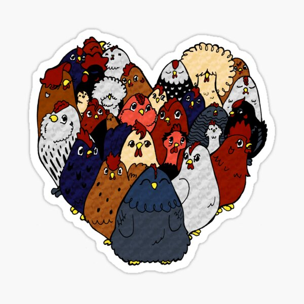 Chicken Love Sticker
