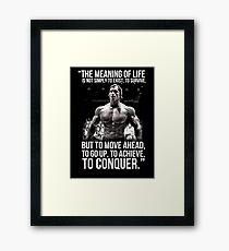 Arnold Schwarzenegger Arnie Conquer Quote Framed Print