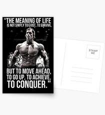 Arnold Schwarzenegger Arnie Conquer Quote Postkarten