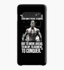 Arnold Schwarzenegger Arnie Conquer Quote Case/Skin for Samsung Galaxy