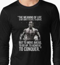 Arnold Schwarzenegger Arnie Conquer Quote T-Shirt