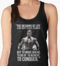 Arnold Schwarzenegger Arnie Conquer Quote Women's Tank Top